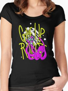 Give Up Robot Squid Women's Fitted Scoop T-Shirt