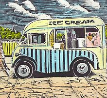The Ice cream van. by Bob Hickman