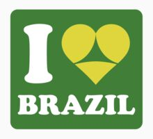 I Love Brazil (Funny) by worldcup