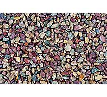 Stone pebbles in grey reddish color range Photographic Print