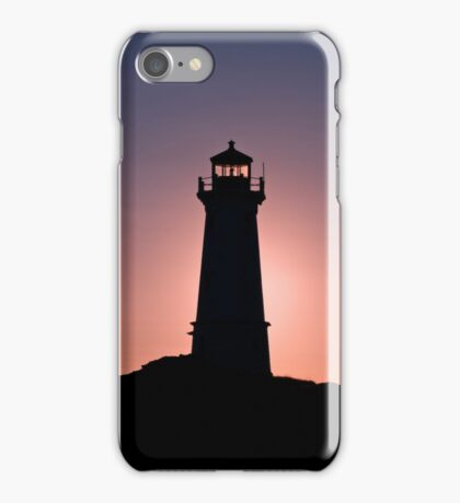 Lighthouse during sunrise in the early morning iPhone Case/Skin