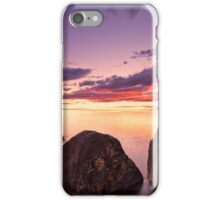 Sea at sunset with some motion blur water iPhone Case/Skin