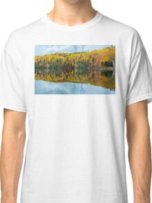 Beautiful reflections of a autumn forest  Classic T-Shirt