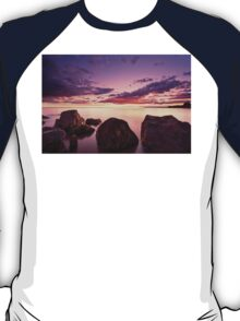 Sea at sunset with some motion blur water T-Shirt