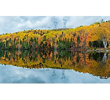 Beautiful reflections of a autumn forest  Photographic Print