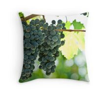 Ripe red wine grapes  Throw Pillow