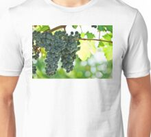 Ripe red wine grapes  Unisex T-Shirt