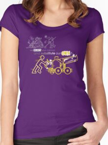 We Reject Your Cannon (Yellow Version) Women's Fitted Scoop T-Shirt