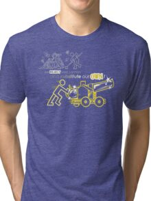 We Reject Your Cannon (Yellow Version) Tri-blend T-Shirt