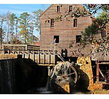 Starting the wheel at Yates Mill Photographic Print