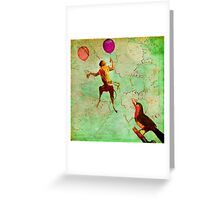 The monkey who wanted to be a bird Greeting Card