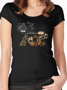 We Reject Your Cannon (Orange Version) Women's Fitted Scoop T-Shirt