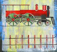 red locomotive by mudzco