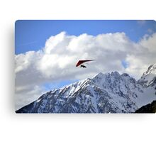 Hang glider just after launch Canvas Print