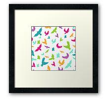 Vector illustration of Birds in seamless pattern Framed Print