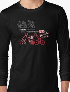 We Reject Your Cannon (Red Version) Long Sleeve T-Shirt