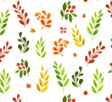 Vector illustration of Autumn leafs pattern Sticker