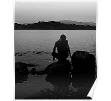On The Rocks Lake Windermere Poster