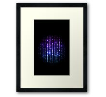 Glowing abstract back Framed Print