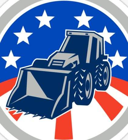 American Mechanical Digger Excavator Circle Sticker