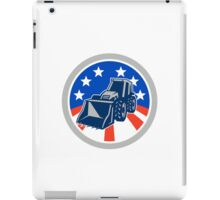 American Mechanical Digger Excavator Circle iPad Case/Skin