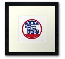 American Mechanical Digger Excavator Retro Framed Print