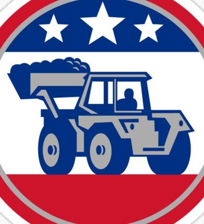 American Mechanical Digger Excavator Retro Sticker