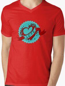Vintage heart Mens V-Neck T-Shirt