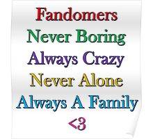 Fandomers, Always A Family Poster