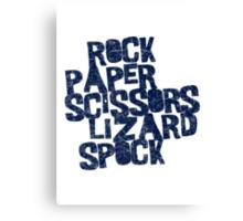 Rock Paper Scissors Lizard Spock Canvas Print