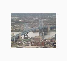 Aerial View of Ben Franklin Bridge, Delaware Bridge, One Liberty Observation Deck, Philadelphia, Pennsylvania Unisex T-Shirt