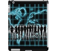 Silhouettes of men and women in business iPad Case/Skin