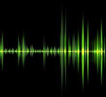 Green wave of sound  by carloscastilla