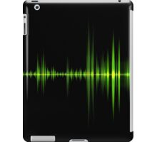 Green wave of sound  iPad Case/Skin