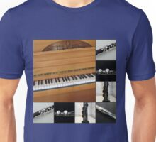 Piano and Woodwind Collage Unisex T-Shirt