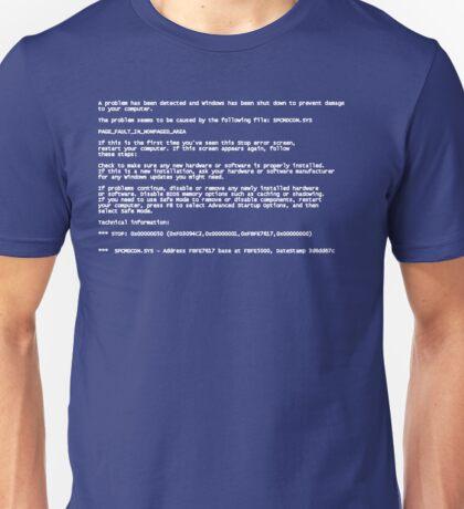 Blue Screen of Death Unisex T-Shirt