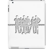people silhouettes and words iPad Case/Skin