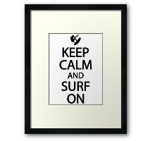 Keep calm and surf on Framed Print