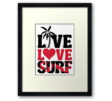 Live Love Surf Framed Print