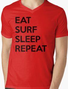 Eat Surf Sleep Repeat Mens V-Neck T-Shirt