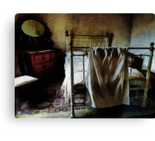 The Loneliness of an Unmade Bed Canvas Print