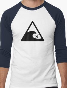 Wave sign - Accident Men's Baseball ¾ T-Shirt