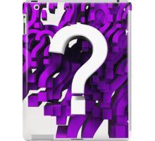 Many question mark iPad Case/Skin