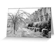 Frozen Suburbia Greeting Card