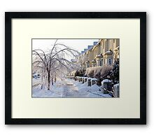 Frozen Suburbia in Colors Framed Print