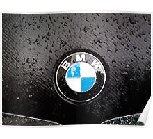 black - wet - BMW Poster