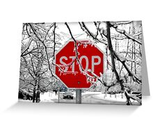 Stop Glacee Greeting Card