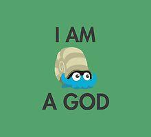 Twitch Plays Pokemon: I Am A God - iPhone/Galaxy Case Green/Dark by Twitch Plays Pokemon
