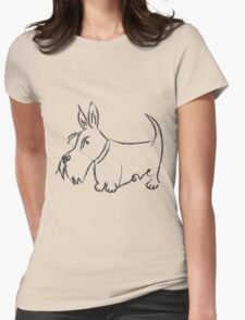 Scottie Love Scribble Womens Fitted T-Shirt