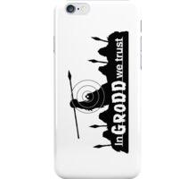 GRODD (Black) iPhone Case/Skin